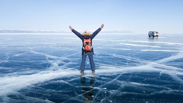 Cross the frozen Lake Baikal with Oksana...