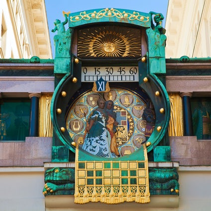 It's always the right time for Ankeruhr, Vienna's famous clock