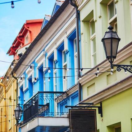 Calles artísticas y vívidas de Vilnius