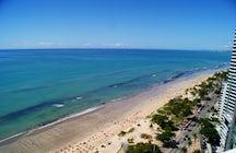 Flirten met gevaar aan de kust van Recife; Boa Viagem Strand
