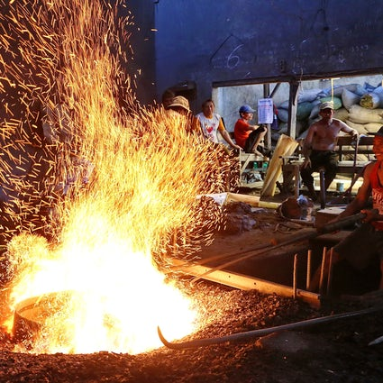 Traditional gong casting in Wirun, Central Java