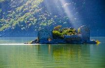 Island Grmozur - the ruins of Montenegrin Alcatraz