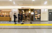 Heerlijke Tsukemen in Rokurinsha op Ramen Street in Tokio.