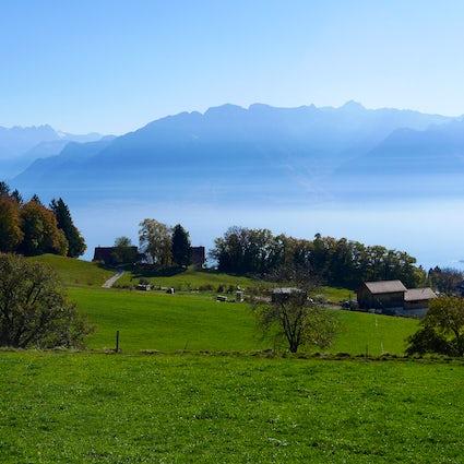 O Mont-Pèlerin: Uma varanda com vista para o Lago Genebra