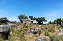 Monte Velho- a trekking route through stone carved graves