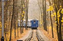 Outono no Piemonte: o trem da folhagem de outono
