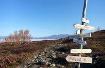 Hiking near Abisko National Park
