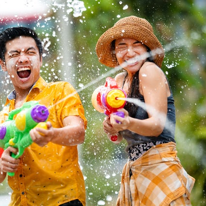 Songkran, the water splashing festival of Thailand