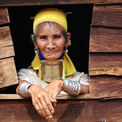 The long-necked tribe of Kayah state