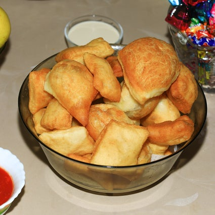 Where to try Kazakh nomad snack - baursaks in Almaty