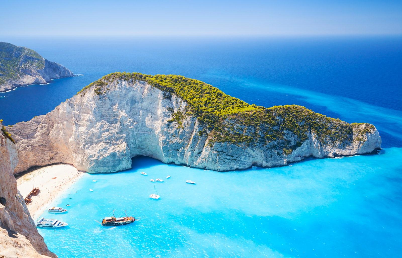 The story of the Zakynthos' Shipwreck beach