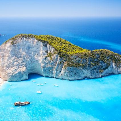 La historia de la playa del naufragio de Zakynthos