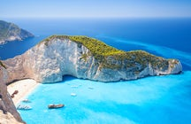 The story of the Zakynthos' Shipwreck beach