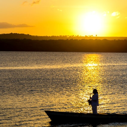 Spiaggia di Jacaré e il tramonto musicale a Cabedelo, Paraíba