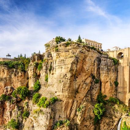 Ronda en zijn verbazingwekkende Puente Nuevo, Malaga...