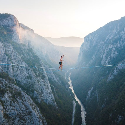 Europas bestes Highlining: Drill & Chill Festival im Tijesno Canyon