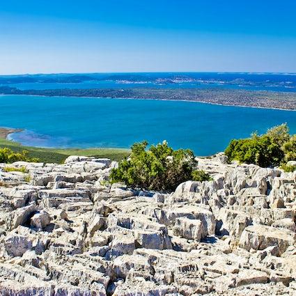 Birding paradise on a lake near the Adriatic sea