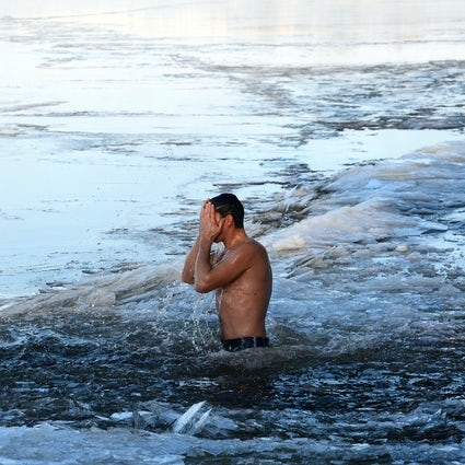 Ice-water dipping in Siberia: Yakobi Park