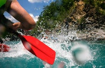 An ultimate rafting on the Neretva River