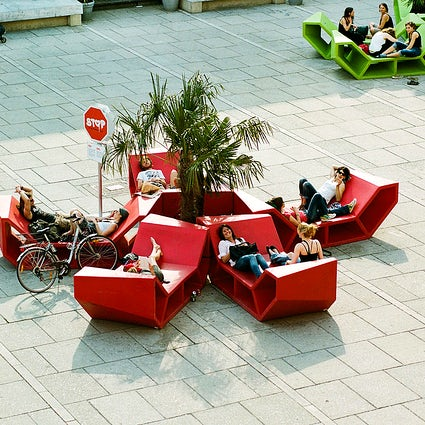Chill-out furniture - trademark of Vienna