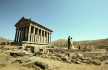 Pagan temple Garni- the summer residence of Armenian kings