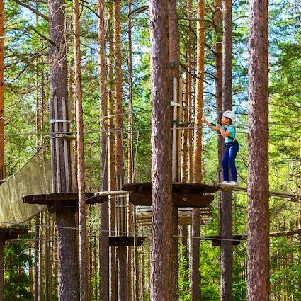 A day in the adventure park Prikazkata near Vratsa