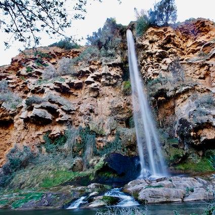 A dramatic waterfall and a long walk