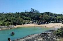 Bathing in Praia de Setiba, Guarapari