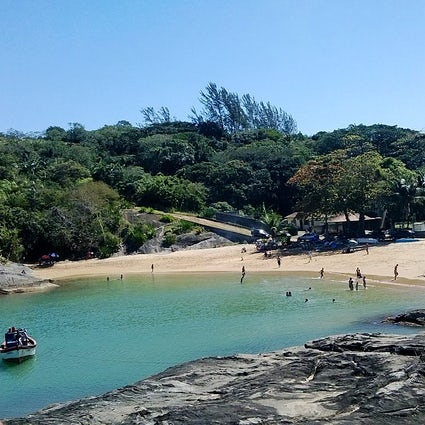 Bathing in Praia de Setiba, Guarapari