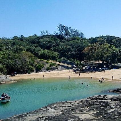 Zwemmen in Praia de Setiba, Guarapari