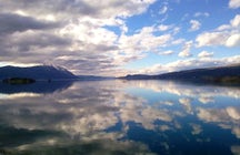 Buško Lake, the largest man-made reservoir in Europe