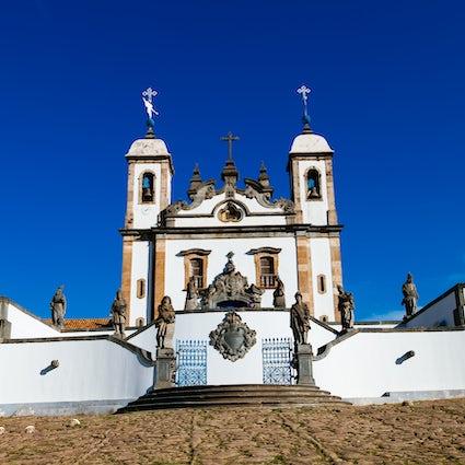 Los 12 profetas de Aleijadinho en Congonhas, Minas Gerais
