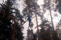 Try winter ropes at Meshchersky Park near Moscow