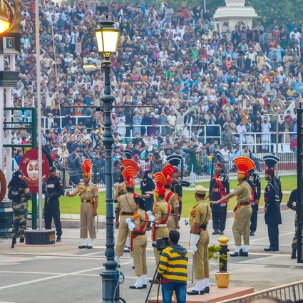 The border-closing ceremony at Attari–Wagah