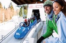 Sleeën als een pro - bobsleigh track Igls