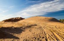 Desierto de Moscú: dunas de arena en Sychevo