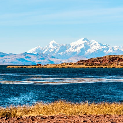 Titicaca lake, the floating islands and the underwater city