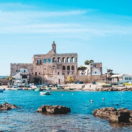 The picturesque sea abbey, San Vito