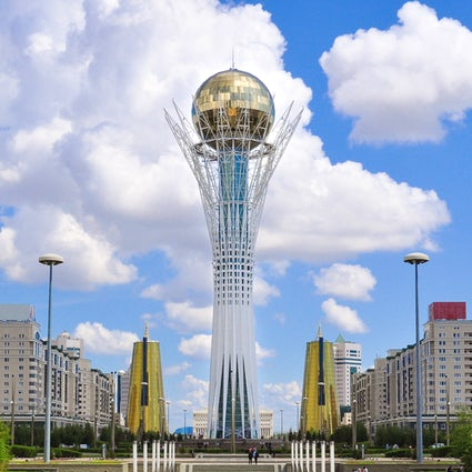 Legendary Baiterek Tower, the symbol of Nur-Sultan