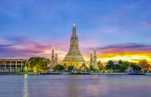 Tempel der Morgendämmerung, das klassische Wahrzeichen von Bangkok