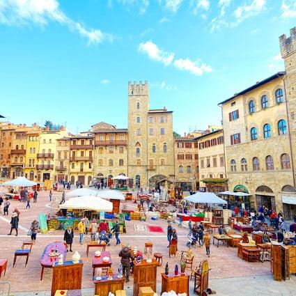 Arezzo - Histoire du cinéma et de la cuisine italienne en Toscane