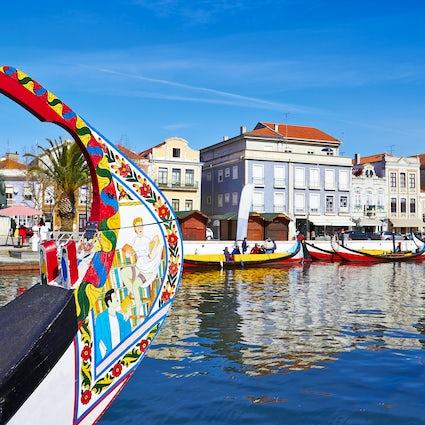 De beroemde kanalen van Aveiro