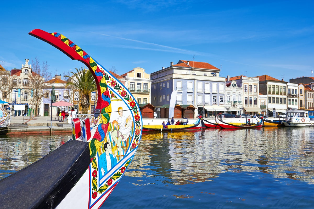 The famous canals of Aveiro