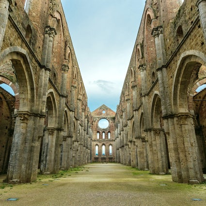San Galgano Abbey and the sword in the rock, Tuscany