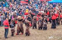 A dança do urso na passagem de ano em Comănești