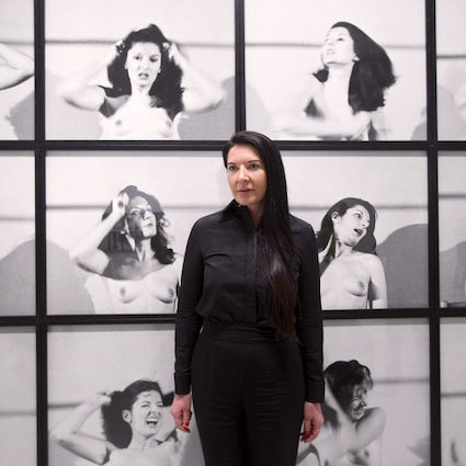 Marina Abramovic in the Museum of Contemporary Art in Belgrade