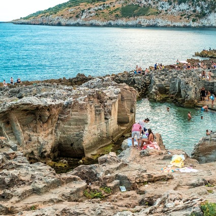 The natural pools of Salento