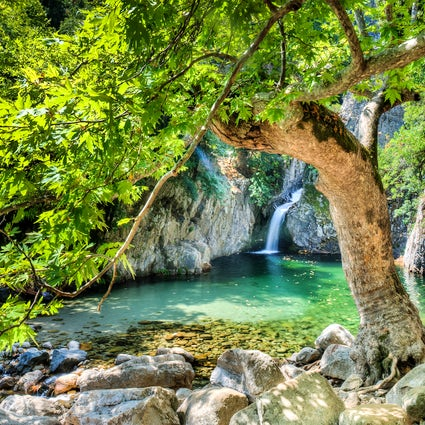Samothraki's exotic beauty and its Vathres (Natural Pools)