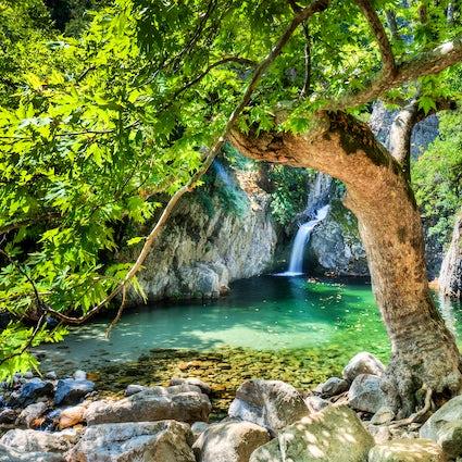 Samothraki's exotic beauty and its Vathres (Natural Pools)