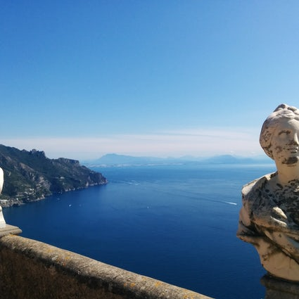 The breathtaking Terrace of Infinity in Villa Cimbrone, Ravello